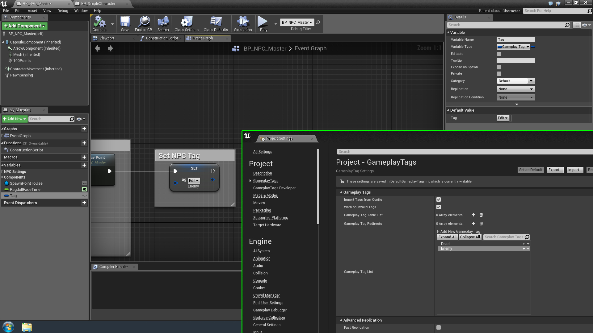 Set gameplay tags via blueprint and update at runtime ue4 answerhub heres my setup malvernweather